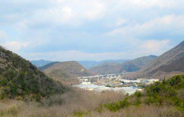 棚田分譲地 裏山からの景色