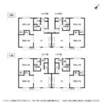 賃貸アパート 第2コーポ中山 間取り図(全戸)