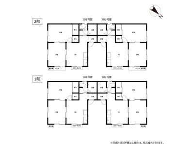 賃貸アパート 宮田コーポ 間取り図(全戸)